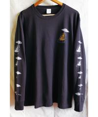 "CHILL MOUNTAIN - ChillMountain / ""PIZZAFO""with Salami LongSleeve BLACK Size L : CHILL MOUNTAIN (JPN)"