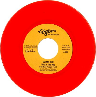 MAMAS GUN - This Is The Day (Red Vinyl) : 7inch