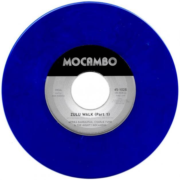 THE MIGHTY MOCAMBOS - Zulu Walk (feat. Afrika Bambaataa, Charlie Funk & King Kamonzi) : 7inch
