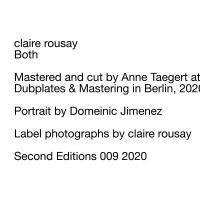 CLAIRE ROUSAY - Both : LP+DOWNLOAD CODE