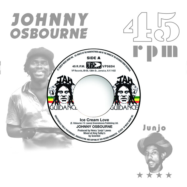 JOHNNY OSBOURNE / ROOTS RADICS - Ice Cream Love / Extra Time One : 7inch