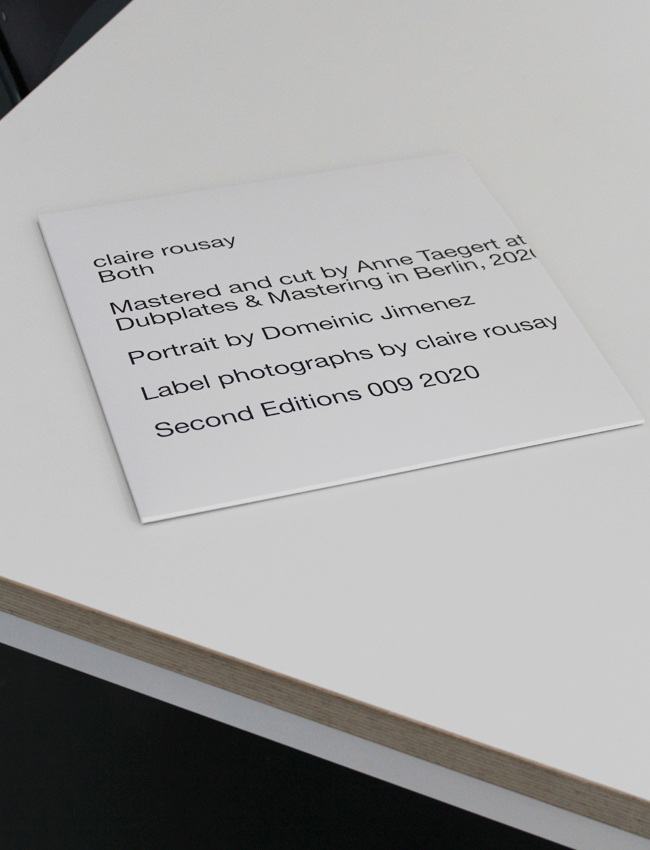 CLAIRE ROUSAY - Both : LP+DOWNLOAD CODE gallery 1
