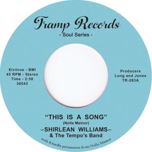 SHIRLEAN WILLIAMS & THE TEMPO'S BAND - This Is a Song : 7inch
