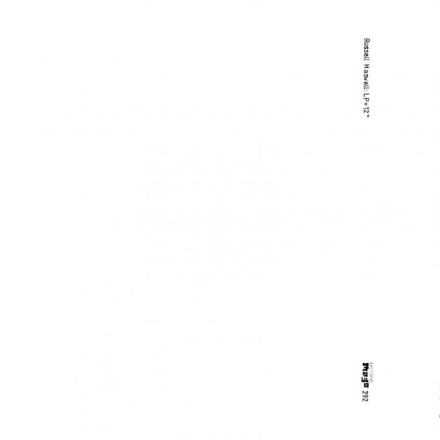 RUSSELL HASWELL - LP + 12inch : EDITIONS MEGO (AUS)