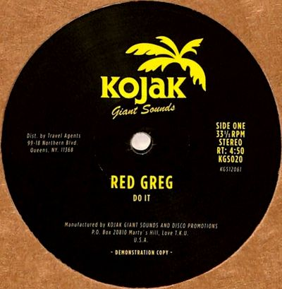 RED GREG - Do It / Peace : 12inch