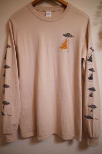"CHILL MOUNTAIN - ChillMountain / ""PIZZAFO""with Salami LongSleeve Sand Size L : WEAR"