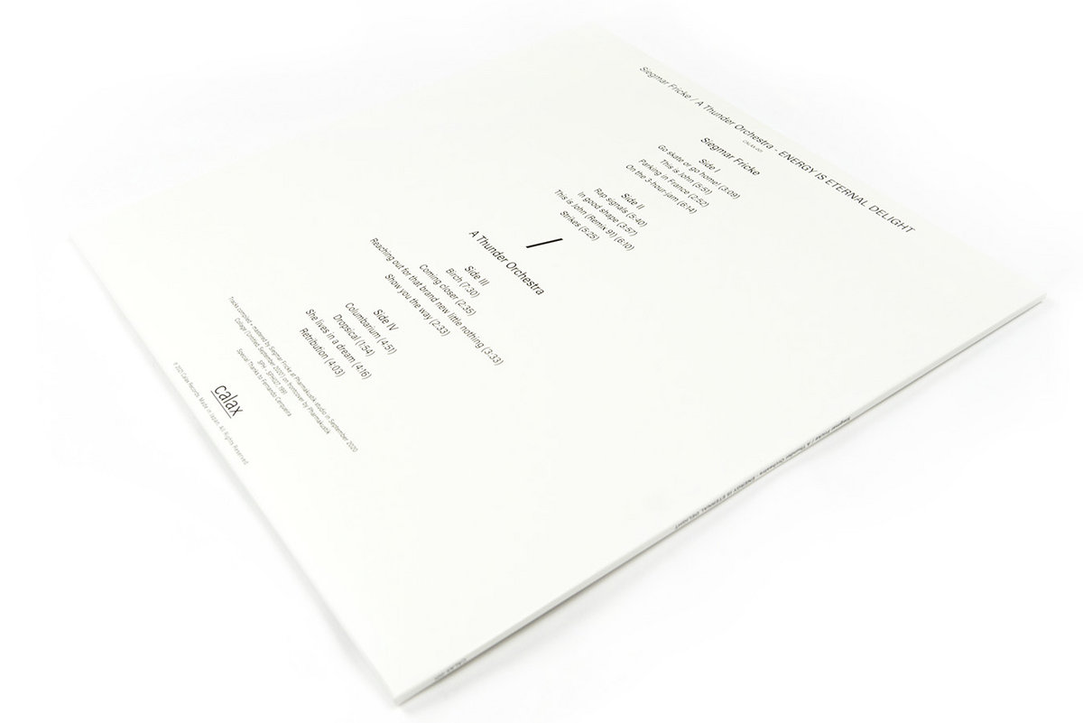 SIEGMAR FRICKE / A THUNDER ORCHESTRA - Energy Is Eternal Delight : LP gallery 3