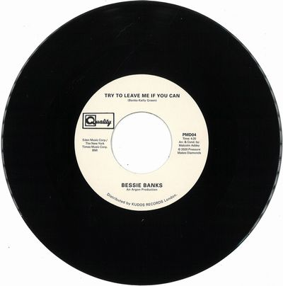 BESSIE BANKS - Don't You Worry Baby The Best Is Yet To Come / Try To Leave Me If You Can : 7inch