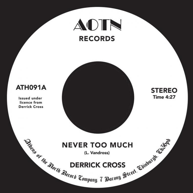 DERRICK CROSS - Never Too Much : 7inch