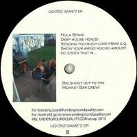 DIEGO GAMEZ - Game'z EP : 12inch