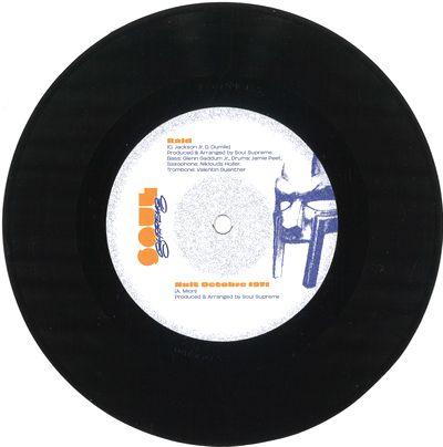 SOUL SUPREME - Huit Octobre 1971 / Raid : 7inch