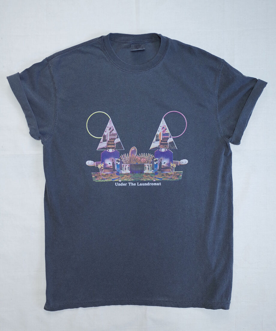 CHILL MOUNTAIN - 「Under the laundromat」RemixCollage T-shirts wash black Size L : WEAR gallery 1